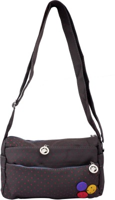 Super Drool Women, Girls Grey PU Sling Bag