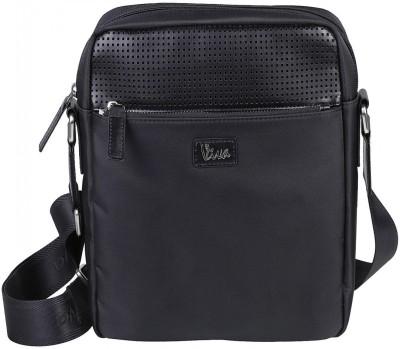 Viva-Global Men Formal Black Nylon, Polyester Sling Bag