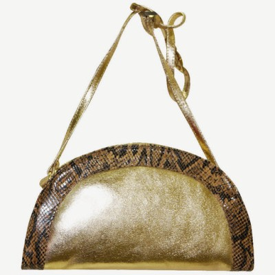 Jeane Sophie Women Evening/Party Gold Genuine Leather Sling Bag