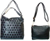 velina Girls Black PU Sling Bag
