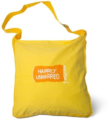 Happily Unmarried Men, Women Casual Yellow Cotton Sling Bag