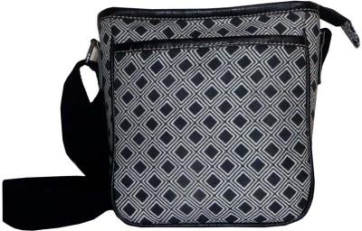 Needlecrest Men, Women Black Cotton Sling Bag