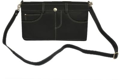 Rivory Bros Girls, Women Black Genuine Leather Sling Bag
