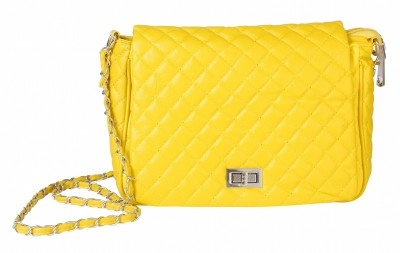 Celladorr Girls Yellow PU Sling Bag
