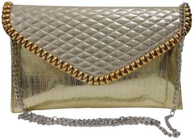 Laviva Women Gold PU Sling Bag