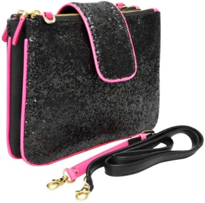 Zaera Women Casual Black PU Sling Bag