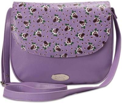 DHC Women Casual Purple PU Sling Bag