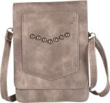 Aquila Women Grey PU Sling Bag