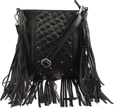 Osaiz Girls Black PU Sling Bag