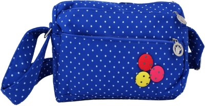 Super Drool Women, Girls Blue PU Sling Bag