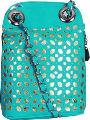Triveni Women Green Rexine Sling Bag