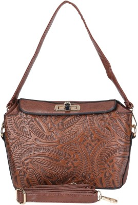 Daks Women Brown PU Sling Bag