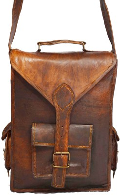 Craft World Men, Boys, Girls, Women Brown Leatherette Sling Bag