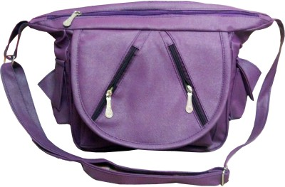 Mahajans Fashions Women Purple PU Sling Bag