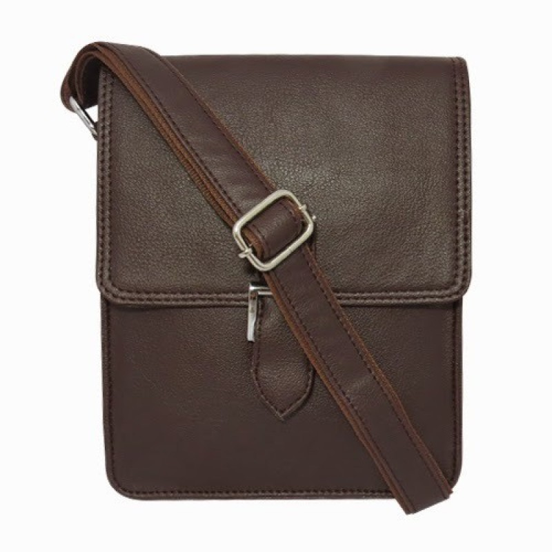 Chimera Leather Men Casual, Formal Brown Leatherette Sling Bag