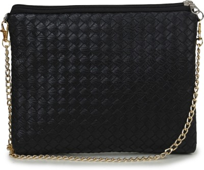 Unixx Girls Casual Black PU Sling Bag
