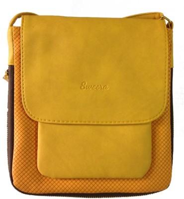 SWEERA Women Yellow PU Sling Bag