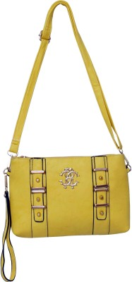 Parv Collections Women Casual Yellow Leatherette Sling Bag