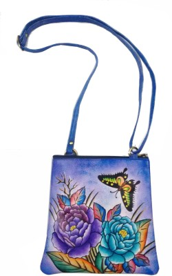 Balona Girls, Women Purple Genuine Leather Sling Bag