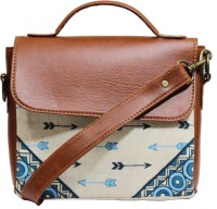 Rang Rage Men & Women Multicolor Genuine Leather, Cotton Sling Bag