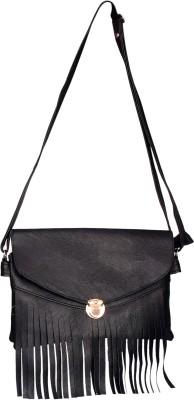 Deox Girls Black PU Sling Bag