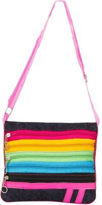 Glitters Girls Pink Canvas Sling Bag
