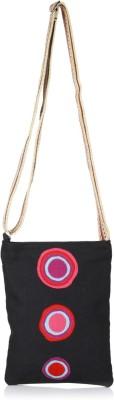 Anekaant Women Black Canvas Sling Bag