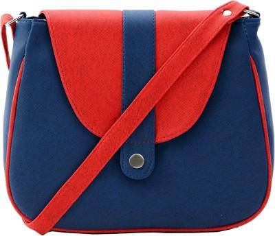 Felicita Women, Girls Blue, Red PU Sling Bag