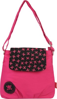 Imagica Women Casual Pink Canvas Sling Bag