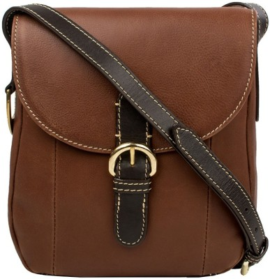 Hidesign Women Tan Genuine Leather Sling Bag