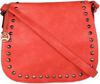 Moedbuille Women Red PU Sling Bag
