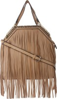 London Design Women Beige Leatherette Sling Bag