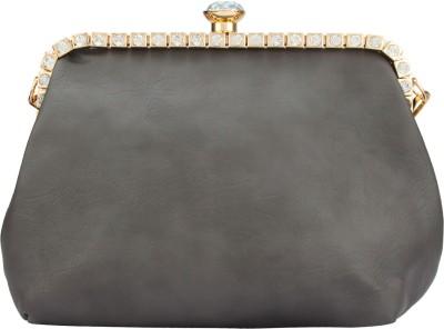 The Peacock Craft Women Grey PU Sling Bag