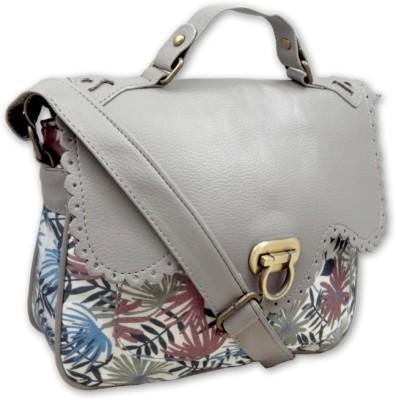 Hi Look Women Casual Grey Polyester Sling Bag