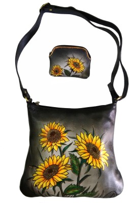 Balona Girls, Women Evening/Party, Casual, Festive Black Genuine Leather Sling Bag