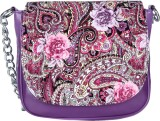 Dice Women Casual Purple PU Sling Bag