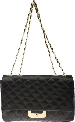 Osaiz Women, Girls Black PU Sling Bag