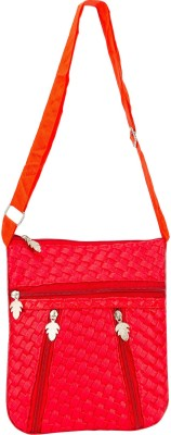 Glitters Girls Casual, Formal Red Rexine Sling Bag