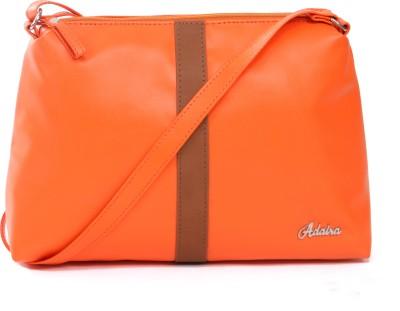 Adaira Girls Casual Orange PU Sling Bag