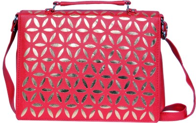 zasmina Girls, Women Red PU, Leatherette Sling Bag