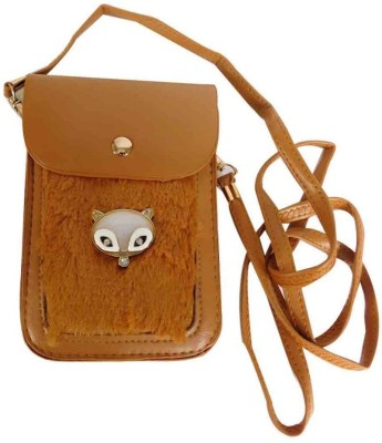 Laviva Girls Brown PU Sling Bag
