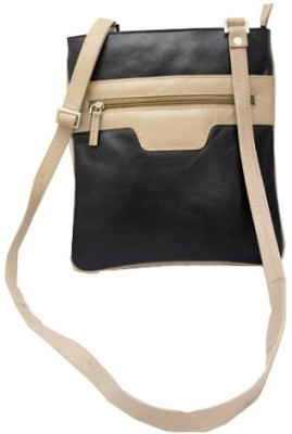 Nappastore Women, Girls Casual, Formal Black, Beige Genuine Leather Sling Bag