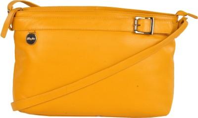 WeMe Women Yellow Genuine Leather Sling Bag