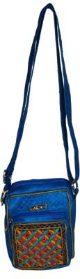 Merci Women Casual Blue Linen Sling Bag
