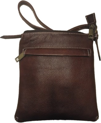 Leather Mall Men, Women, Boys, Girls Casual Brown, Black Genuine Leather Sling Bag