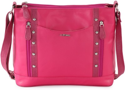 Lady World Women Pink PU Sling Bag
