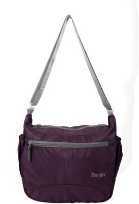 Bendly Men, Women Casual Purple Nylon Sling Bag