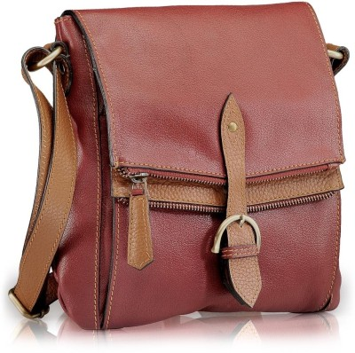 Phive Rivers Women Casual Red Genuine Leather Sling Bag