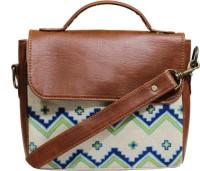 Rang Rage Men & Women Multicolor Cotton, Genuine Leather Sling Bag