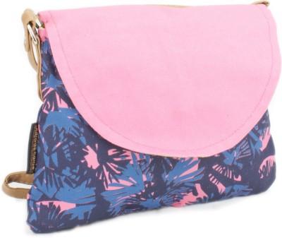 Kanvas Katha Women Blue, Pink Canvas Sling Bag